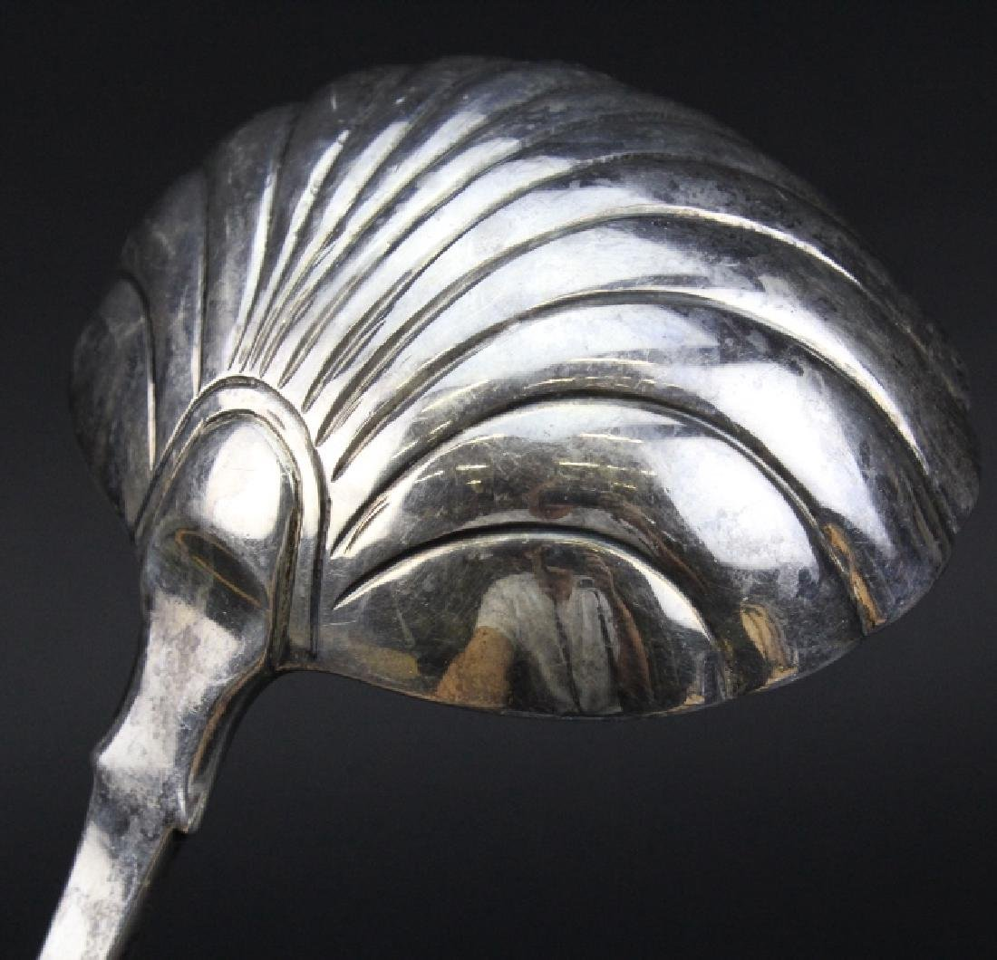 Hugh Beard 18th c. English Georgian Silver Punch Ladle - 3