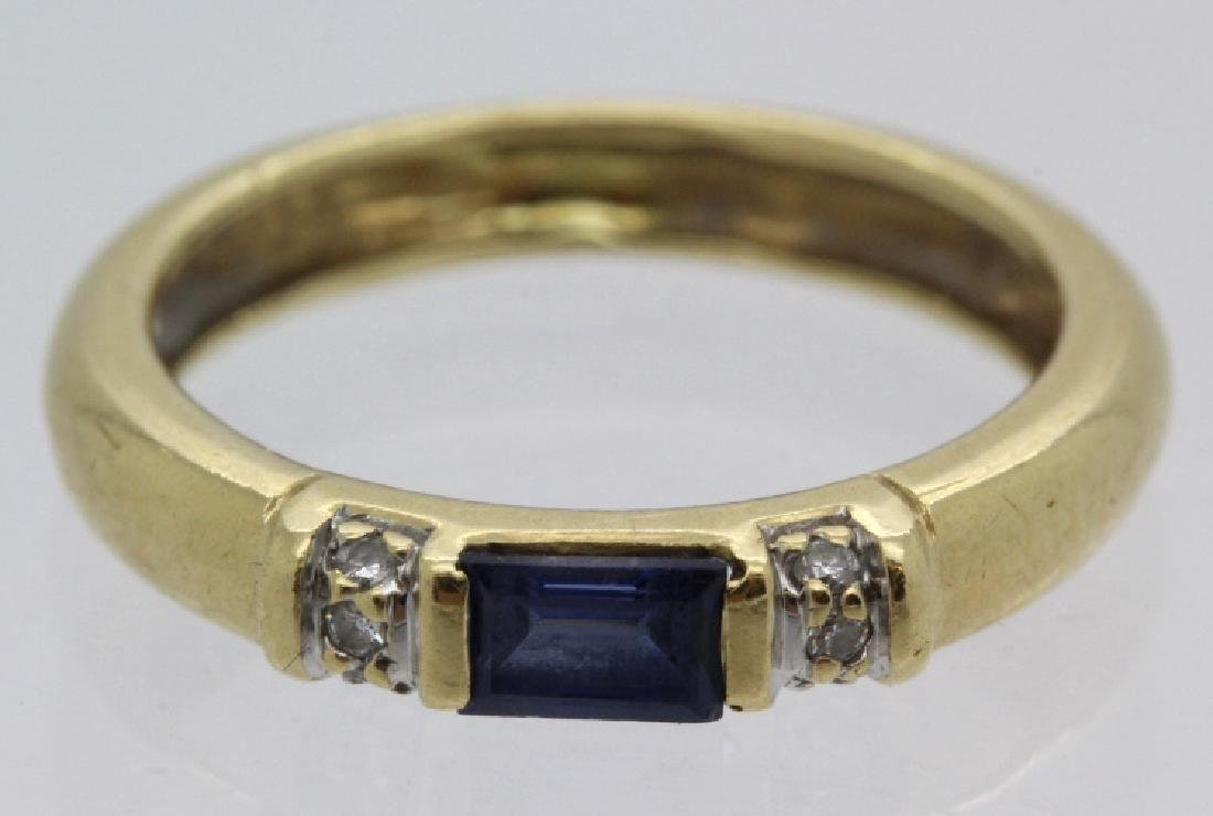 FINE Ladies PEPI 14k Diamond & Blue Sapphire Ring s 5.5