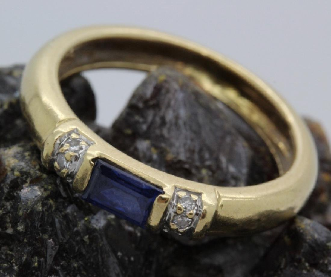FINE Ladies PEPI 14k Diamond & Blue Sapphire Ring s 5.5 - 2