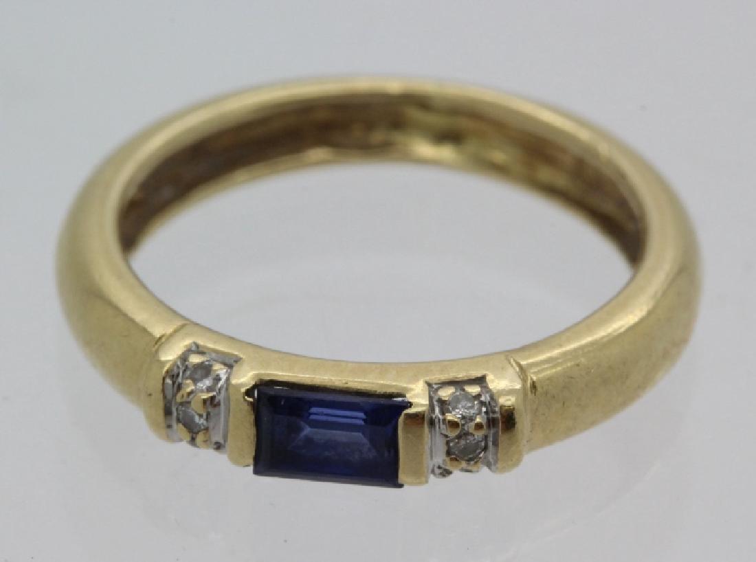 FINE Ladies PEPI 14k Diamond & Blue Sapphire Ring s 5.5 - 3