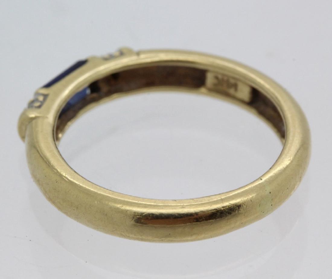 FINE Ladies PEPI 14k Diamond & Blue Sapphire Ring s 5.5 - 4