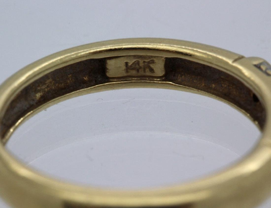FINE Ladies PEPI 14k Diamond & Blue Sapphire Ring s 5.5 - 5