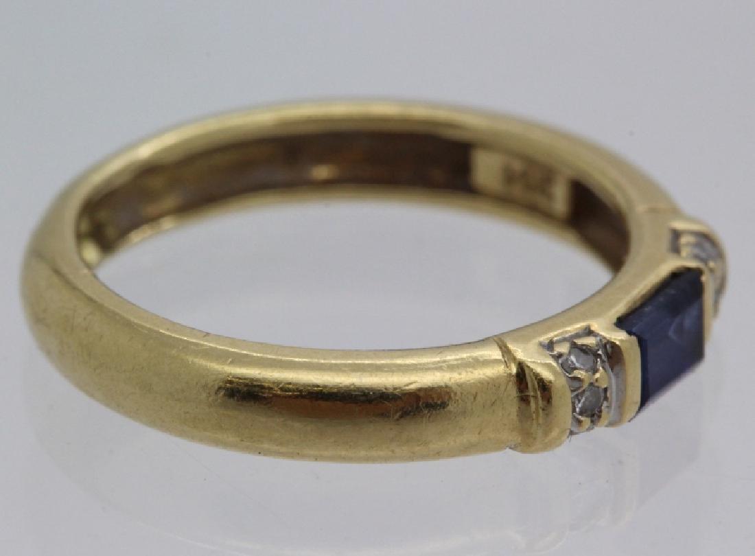 FINE Ladies PEPI 14k Diamond & Blue Sapphire Ring s 5.5 - 6