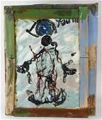 Purvis Young Breaking Chains Outsider Folk Art Painting