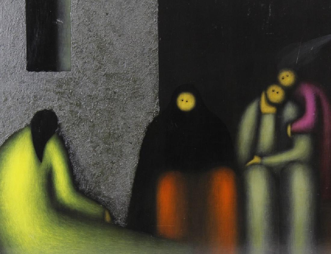 SIGNED Jesus Leuus (1948-) Minimalist Oil Painting 1968