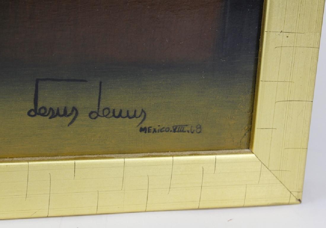 SIGNED Jesus Leuus (1948-) Minimalist Oil Painting 1968 - 3