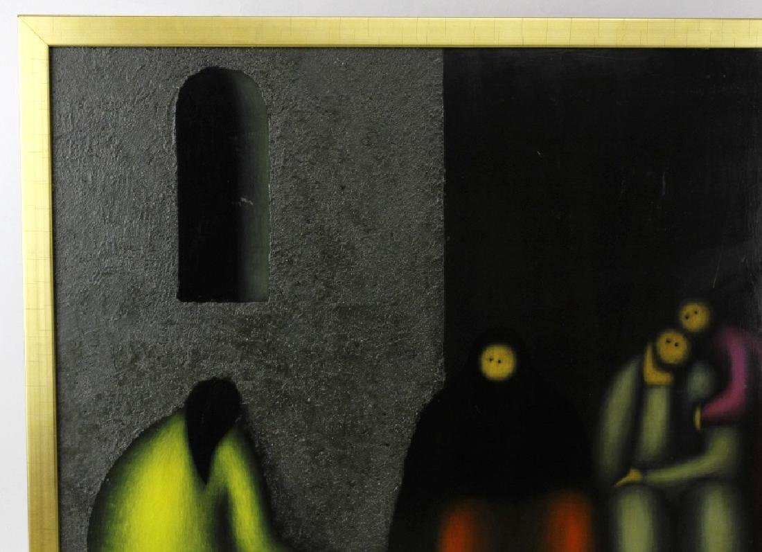 SIGNED Jesus Leuus (1948-) Minimalist Oil Painting 1968 - 4