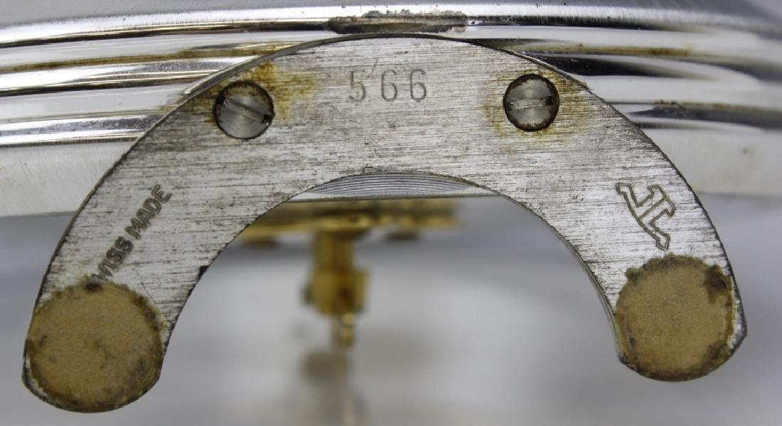 VTG Jaeger Le Coultre 16j 8 Day Skeleton Desk Clock - 5