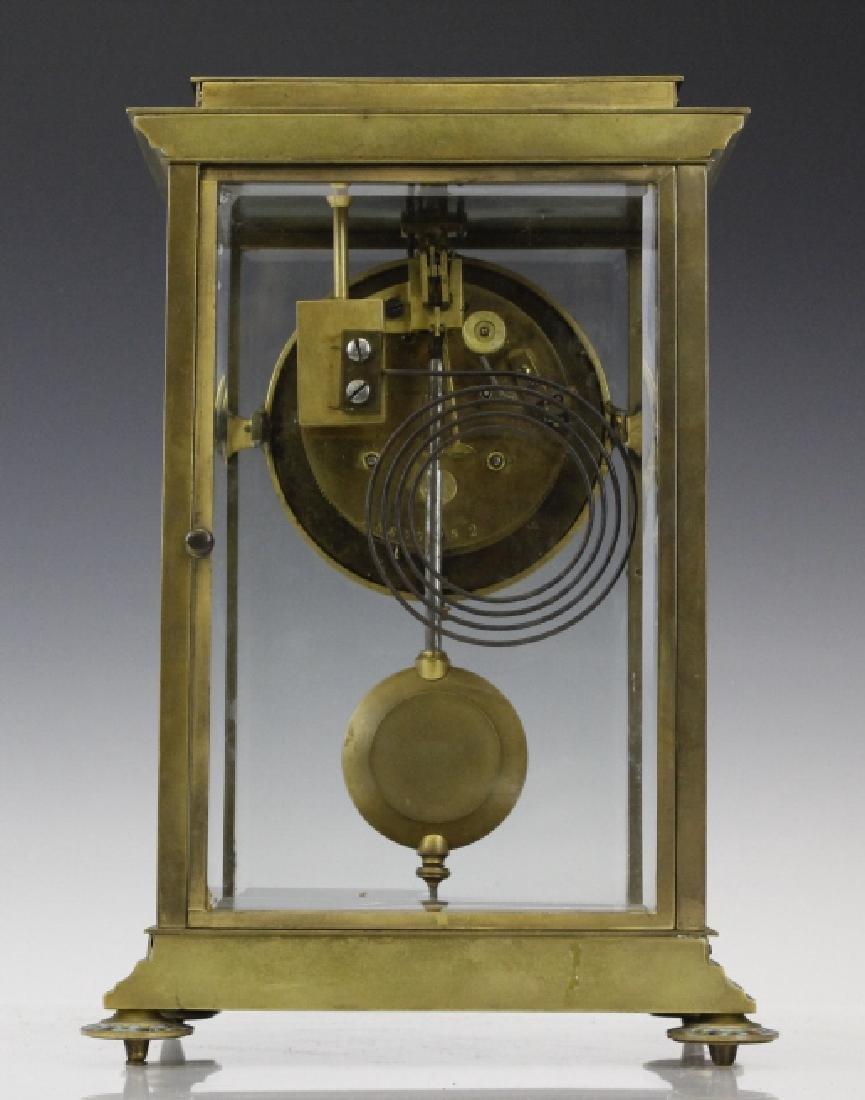 Samuel Marti Champleve Enamel Regulator Mantel Clock - 5