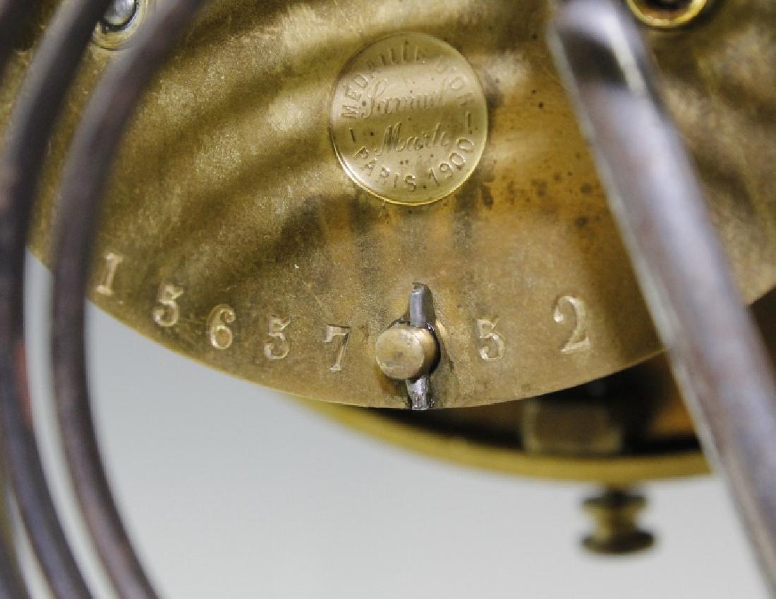Samuel Marti Champleve Enamel Regulator Mantel Clock - 6