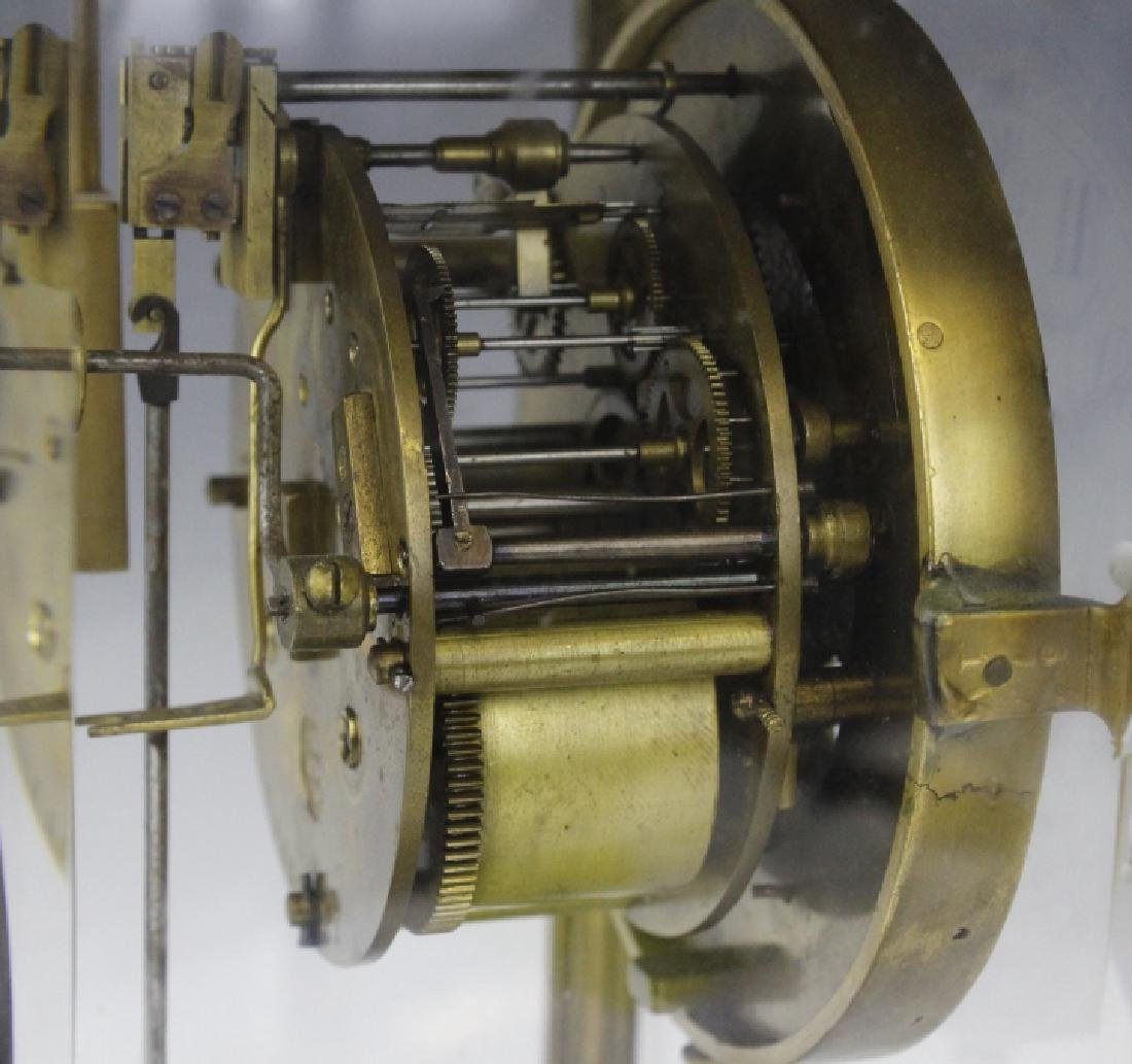 Samuel Marti Champleve Enamel Regulator Mantel Clock - 7
