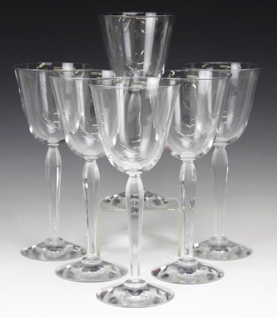 Six (6) CLARA Baccarat Fine French Crystal Wine Glasses