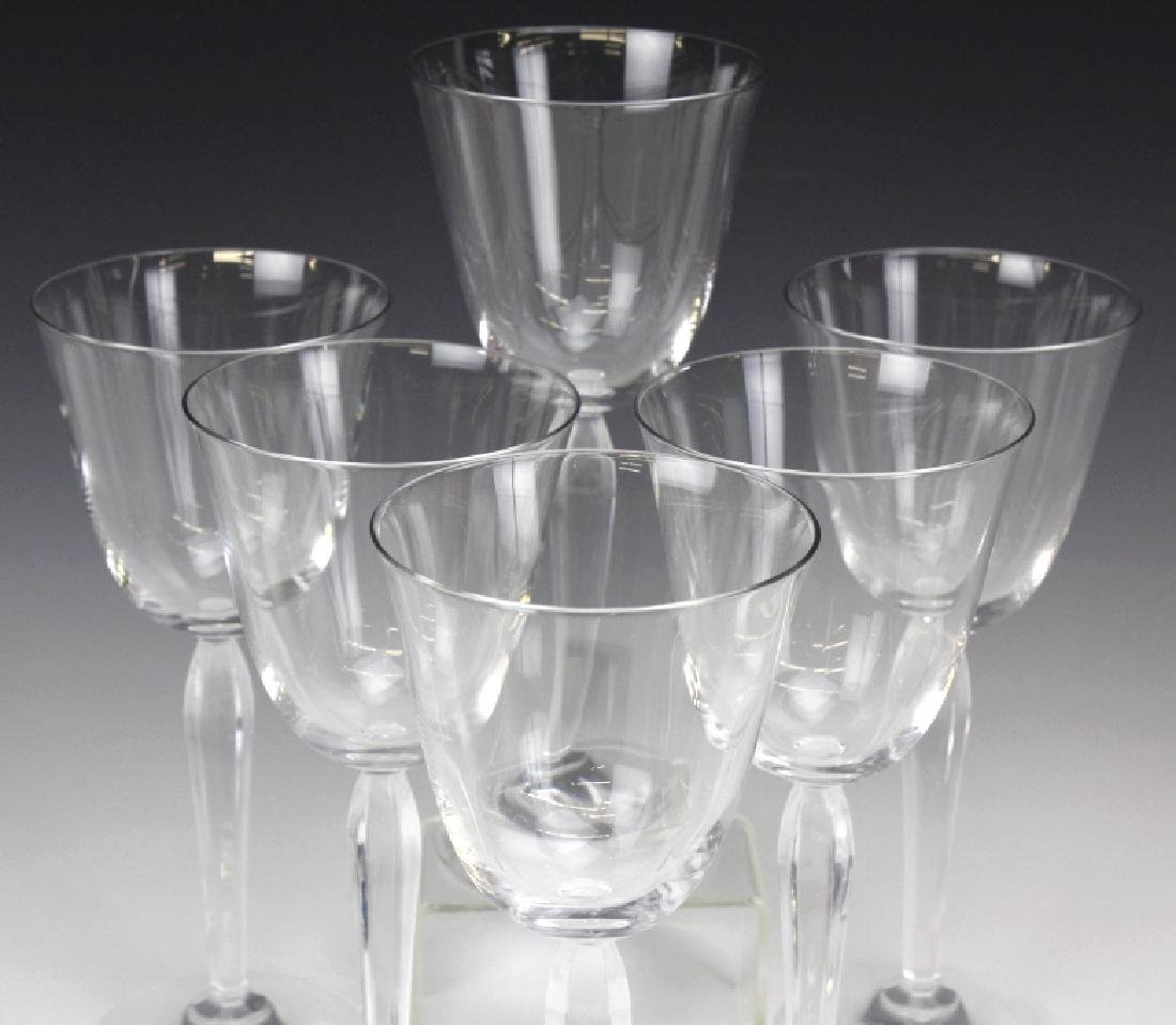 Six (6) CLARA Baccarat Fine French Crystal Wine Glasses - 2