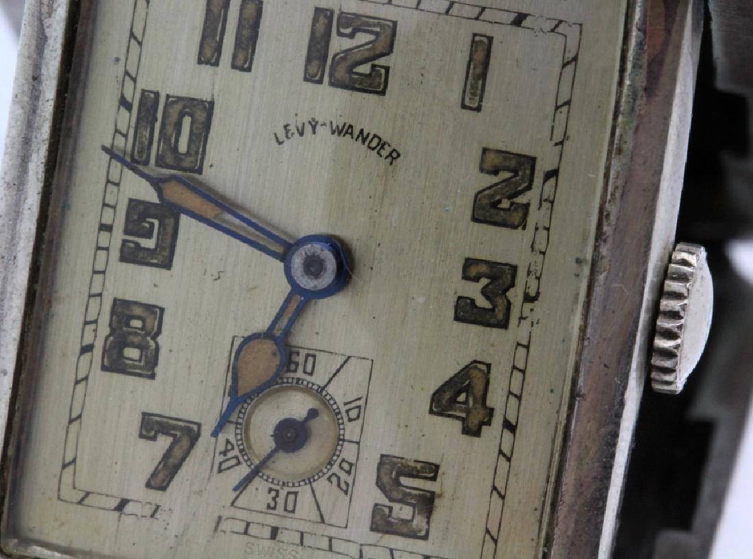 Art Deco Levy Wander Silver Enamel Travel Watch Clock - 4