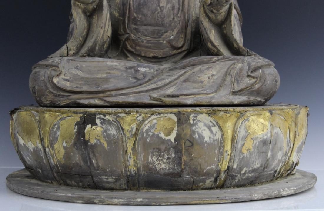 Muromachi Period c. 1600 AD Japanese Wood Buddha Statue - 3
