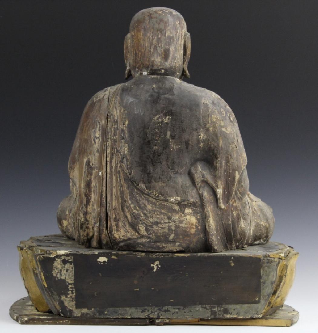 Muromachi Period c. 1600 AD Japanese Wood Buddha Statue - 4