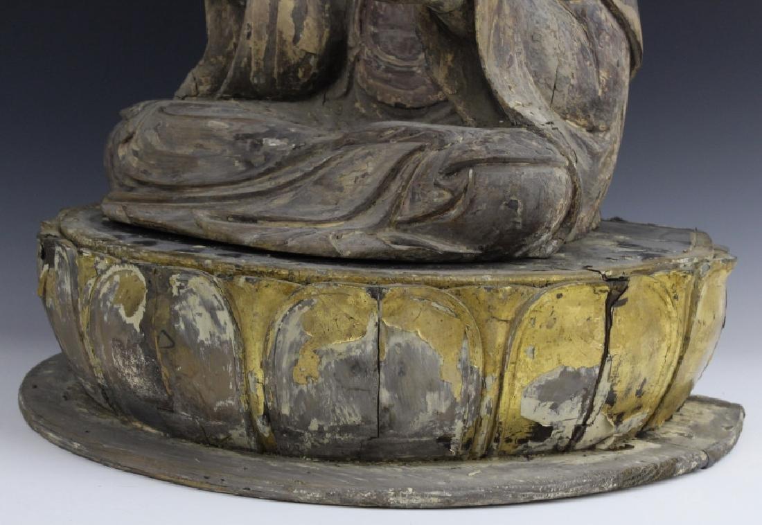 Muromachi Period c. 1600 AD Japanese Wood Buddha Statue - 6