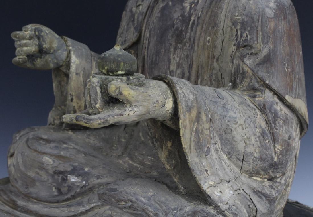 Muromachi Period c. 1600 AD Japanese Wood Buddha Statue - 7