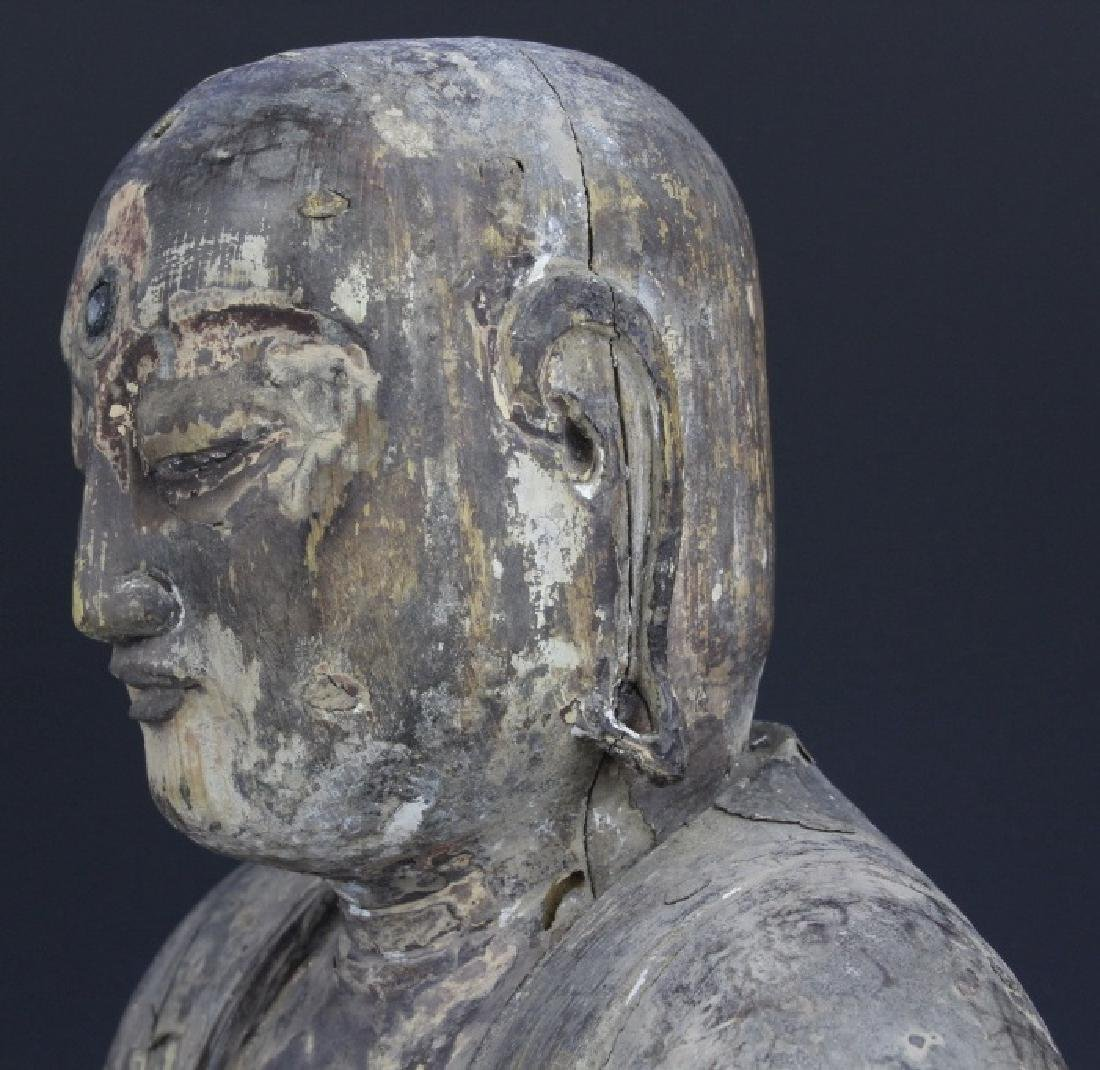 Muromachi Period c. 1600 AD Japanese Wood Buddha Statue - 8