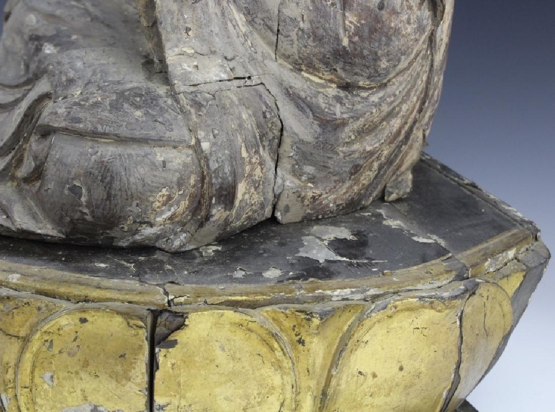 Muromachi Period c. 1600 AD Japanese Wood Buddha Statue - 9