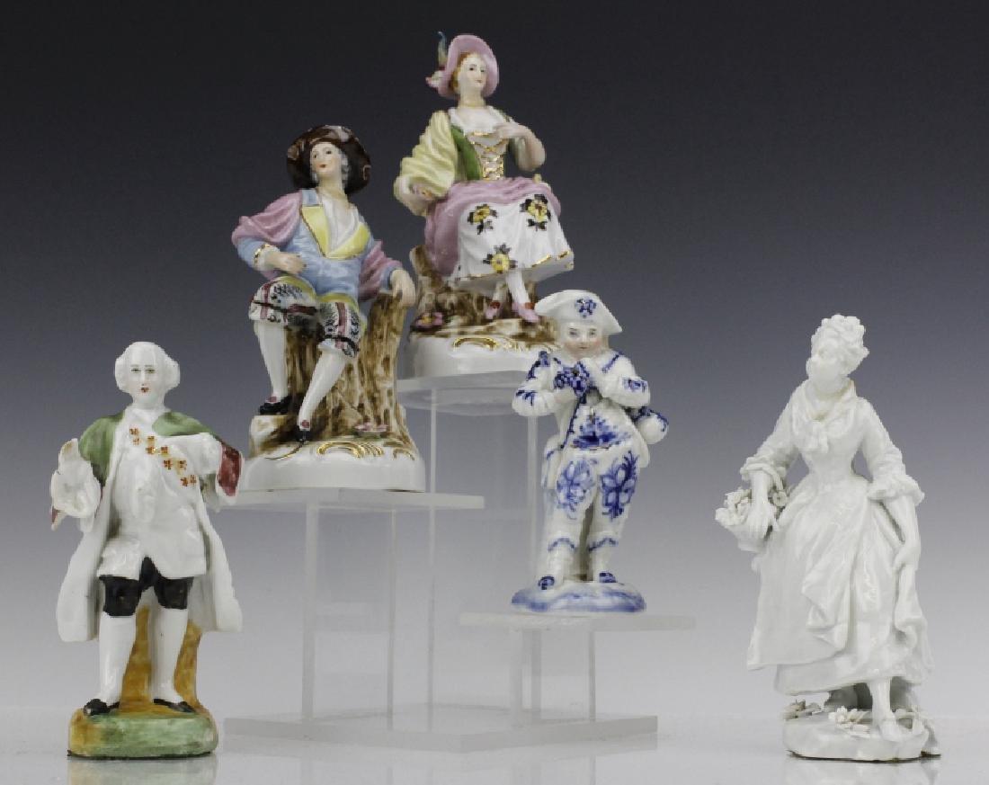 ESTATE LOT of 5 Continental Porcelain Statue Figurines