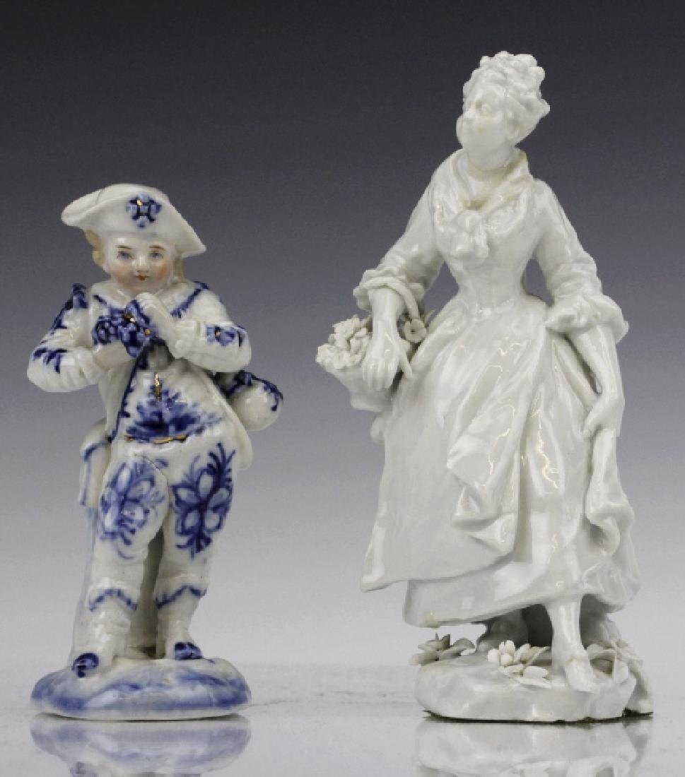 ESTATE LOT of 5 Continental Porcelain Statue Figurines - 2