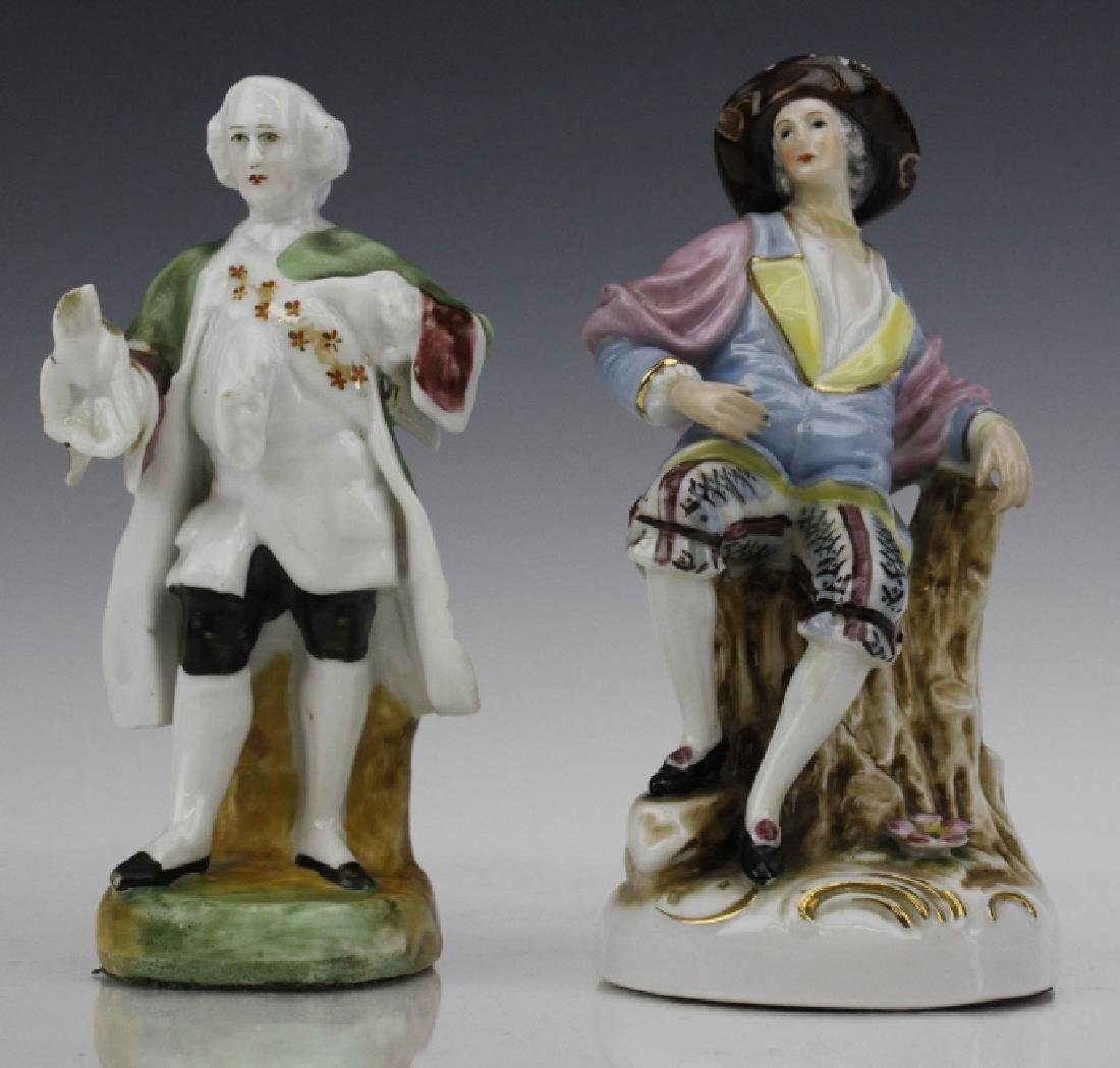 ESTATE LOT of 5 Continental Porcelain Statue Figurines - 5