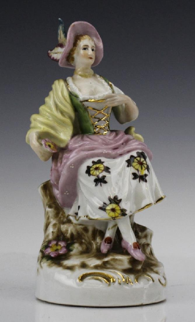 ESTATE LOT of 5 Continental Porcelain Statue Figurines - 6