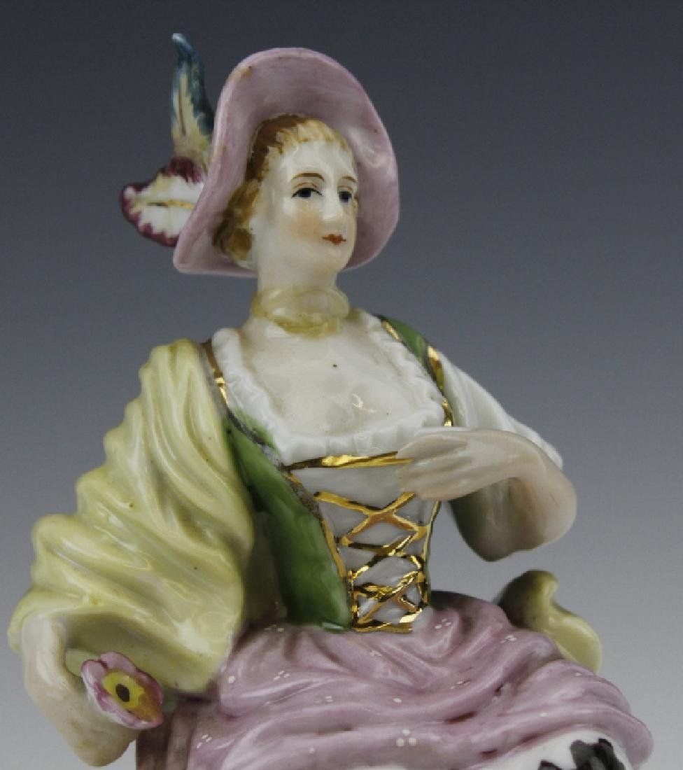 ESTATE LOT of 5 Continental Porcelain Statue Figurines - 7