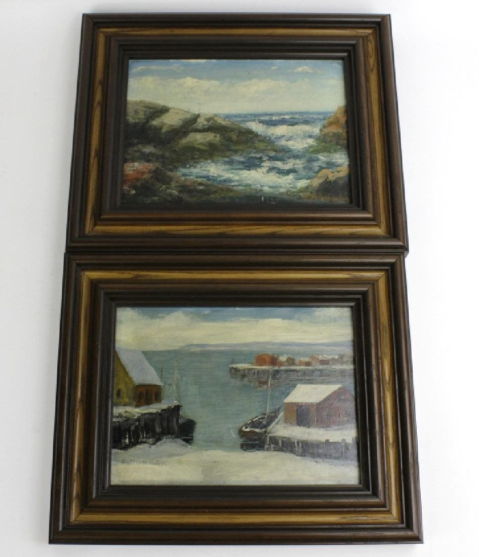 2 Signed E Dungan Seascape Oil Painting LISTED ARTIST