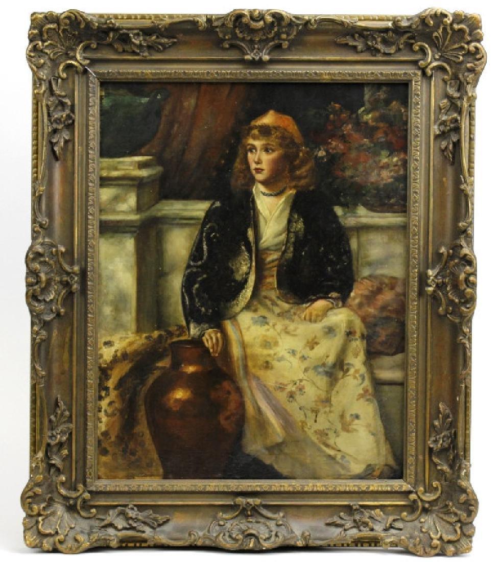C Graves 1880s Orientalist Oil Painting LISTED ARTIST