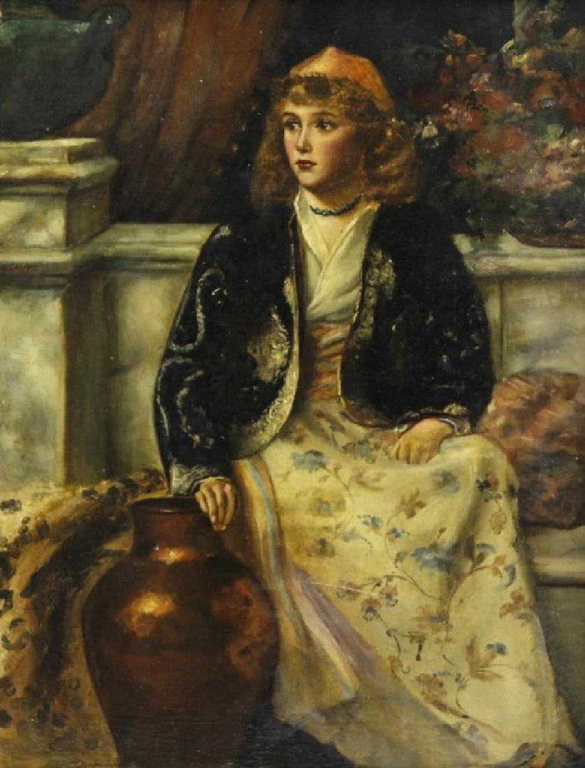 C Graves 1880s Orientalist Oil Painting LISTED ARTIST - 2