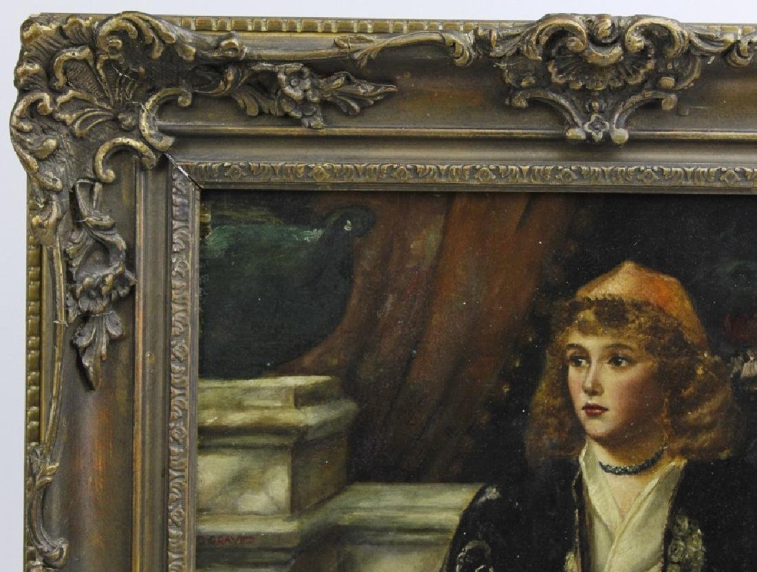 C Graves 1880s Orientalist Oil Painting LISTED ARTIST - 4