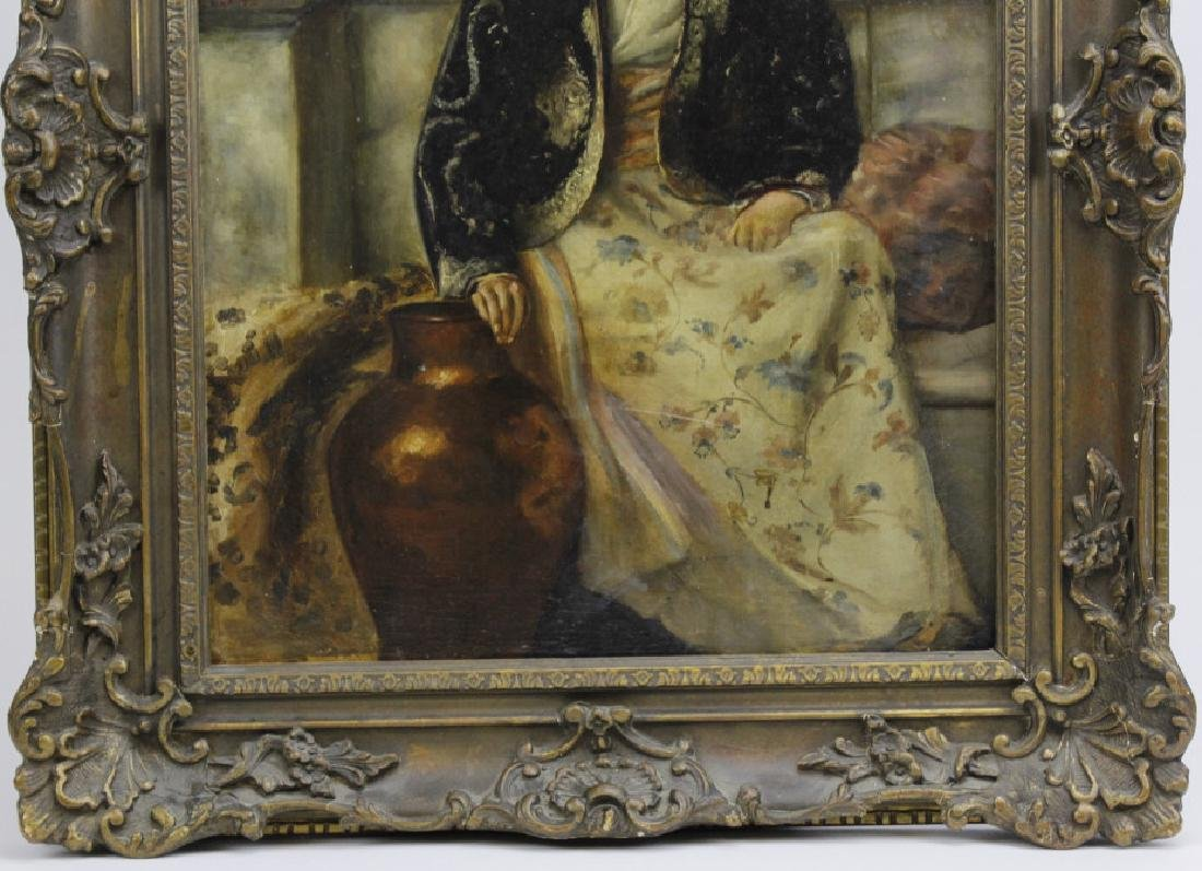 C Graves 1880s Orientalist Oil Painting LISTED ARTIST - 5