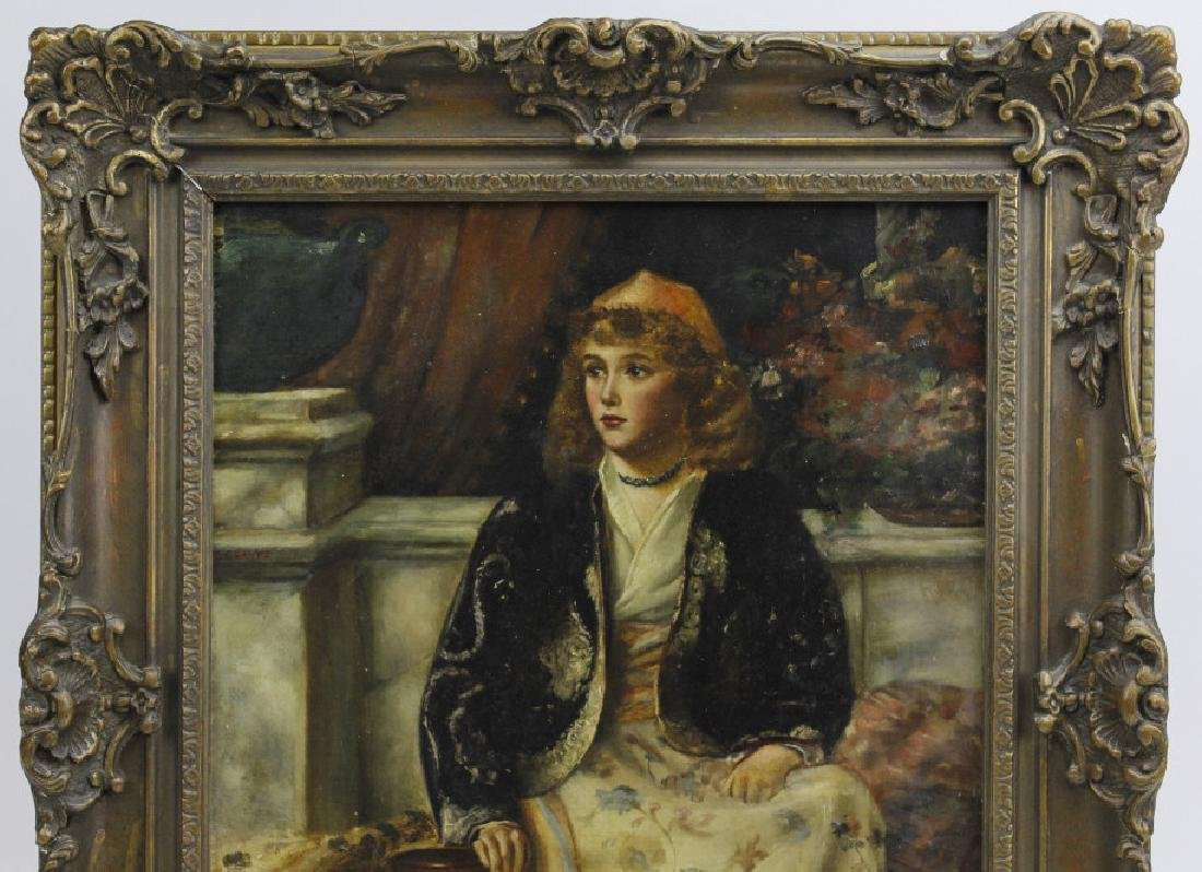 C Graves 1880s Orientalist Oil Painting LISTED ARTIST - 6