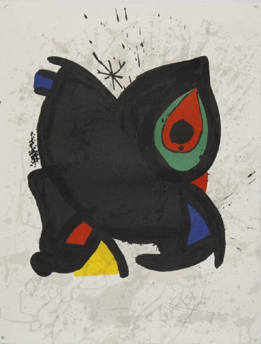 Hand Signed Joan Miro Grand Palais Litho L/E Lithograph