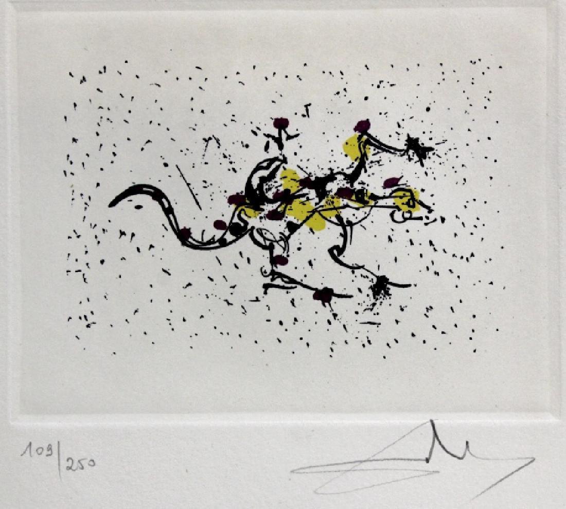 Pencil Signed Salvador Dali Scorpio Zodiac Etching