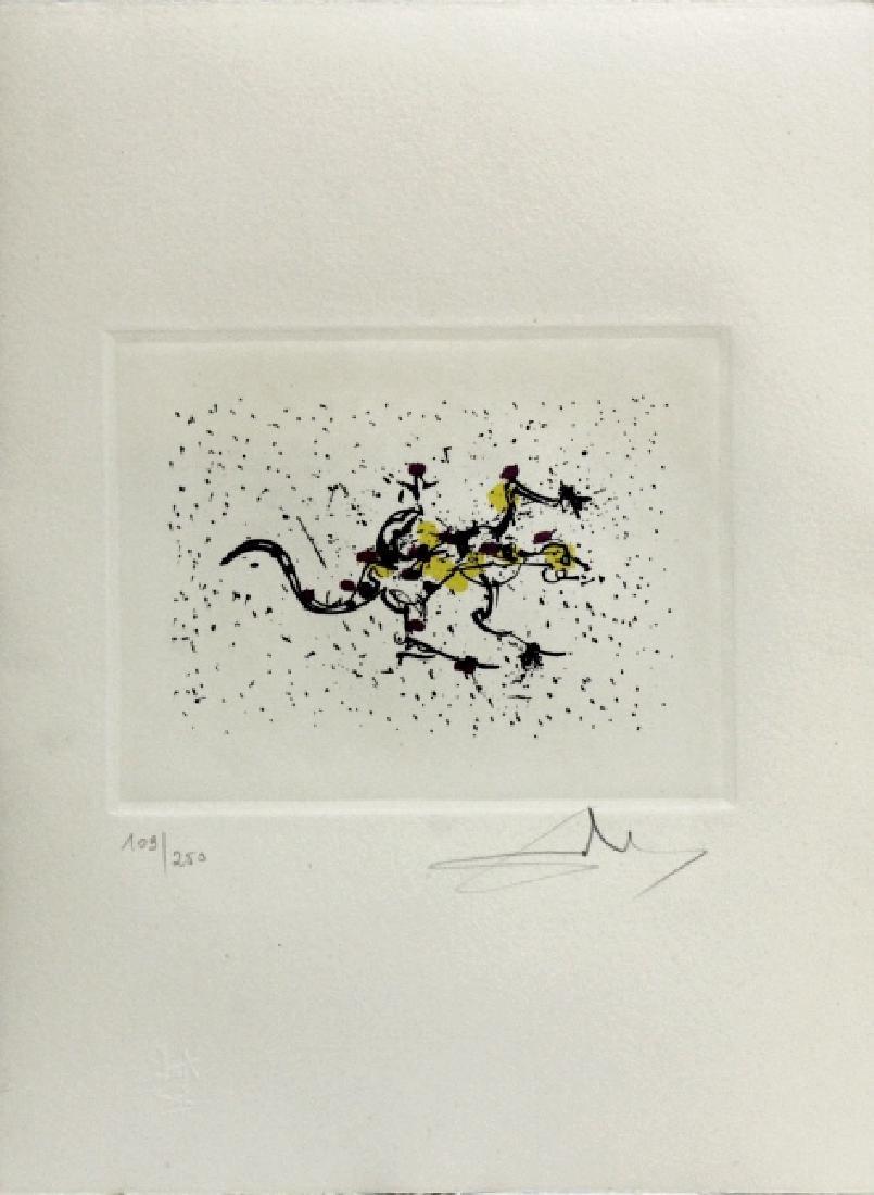 Pencil Signed Salvador Dali Scorpio Zodiac Etching - 2