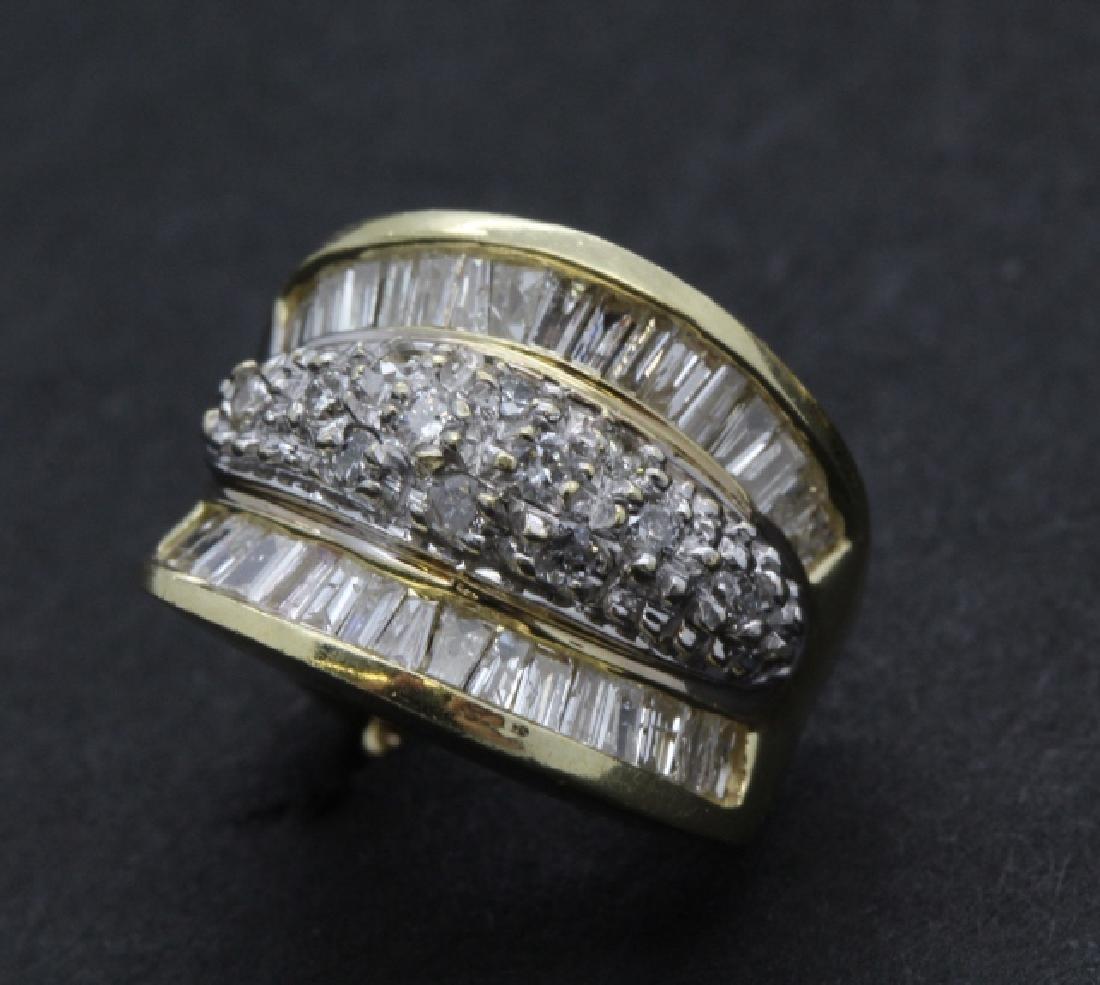 PAIR of 14k Yellow Gold 1.5 Ct TW Diamond Earrings - 3