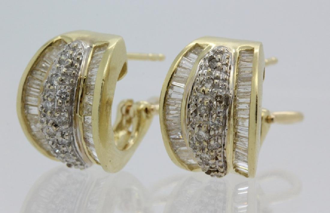 PAIR of 14k Yellow Gold 1.5 Ct TW Diamond Earrings - 5