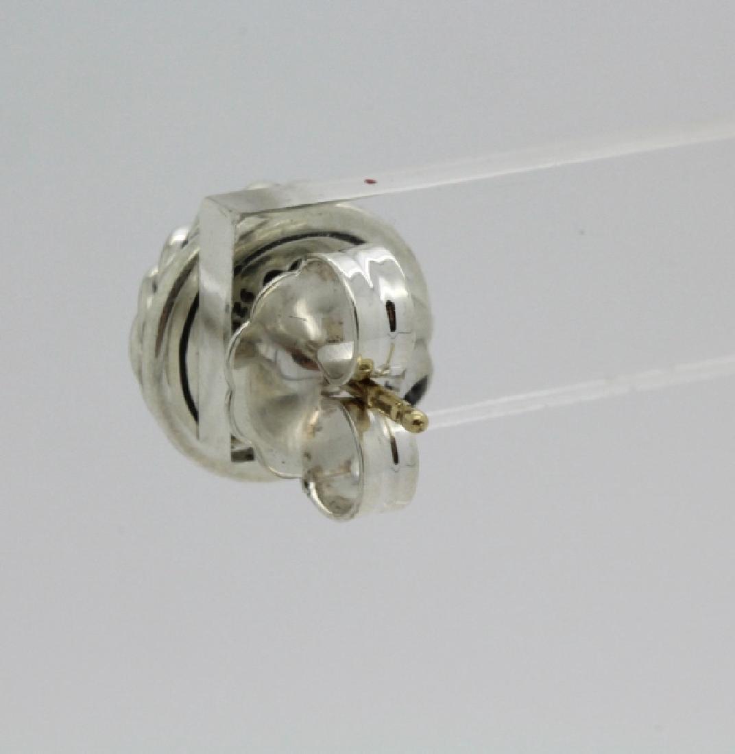 David Yurman 18k Sterling Silver Green Peridot Earrings - 5