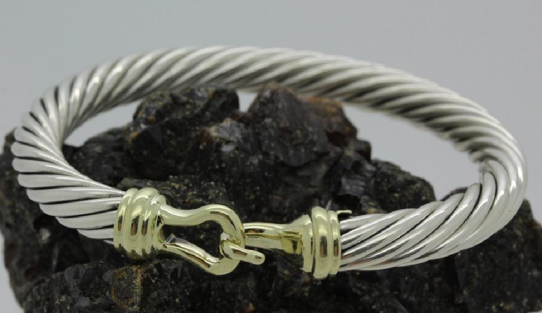 David Yurman 18k & Sterling Silver Cable Bracelet