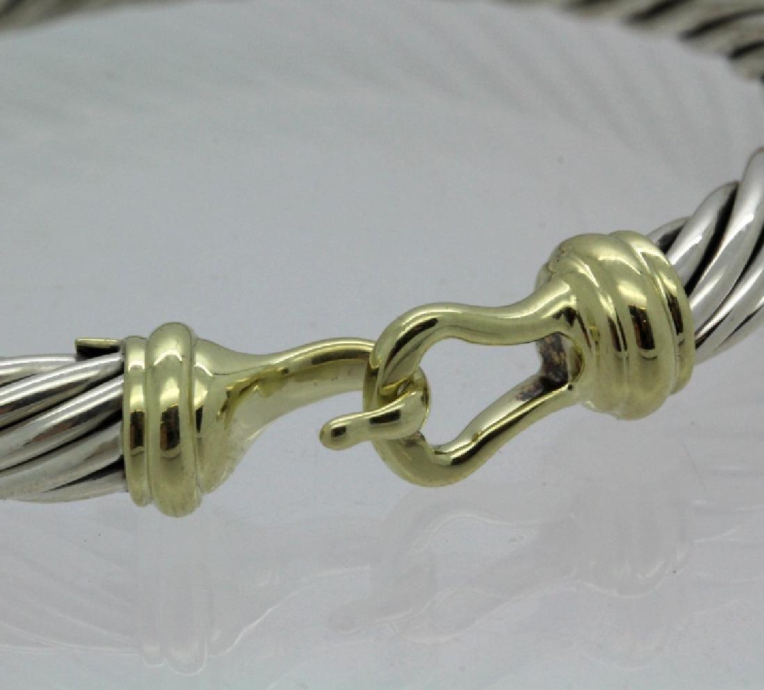 David Yurman 18k & Sterling Silver Cable Bracelet - 3