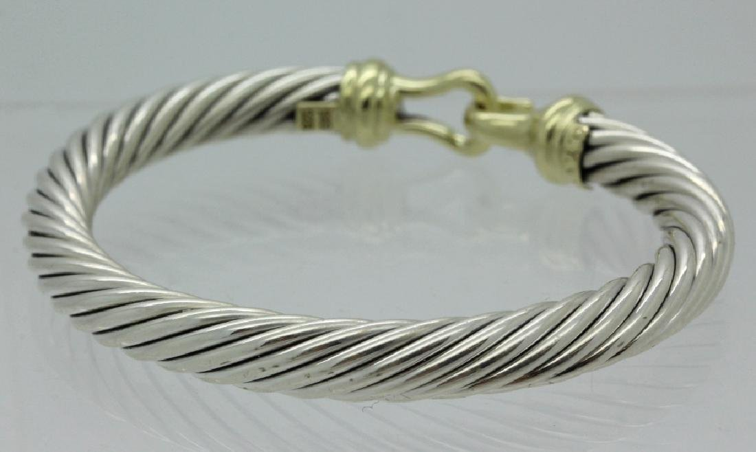 David Yurman 18k & Sterling Silver Cable Bracelet - 4