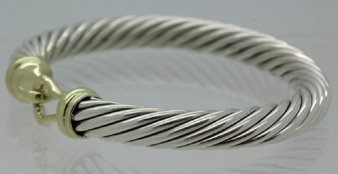 David Yurman 18k & Sterling Silver Cable Bracelet - 5