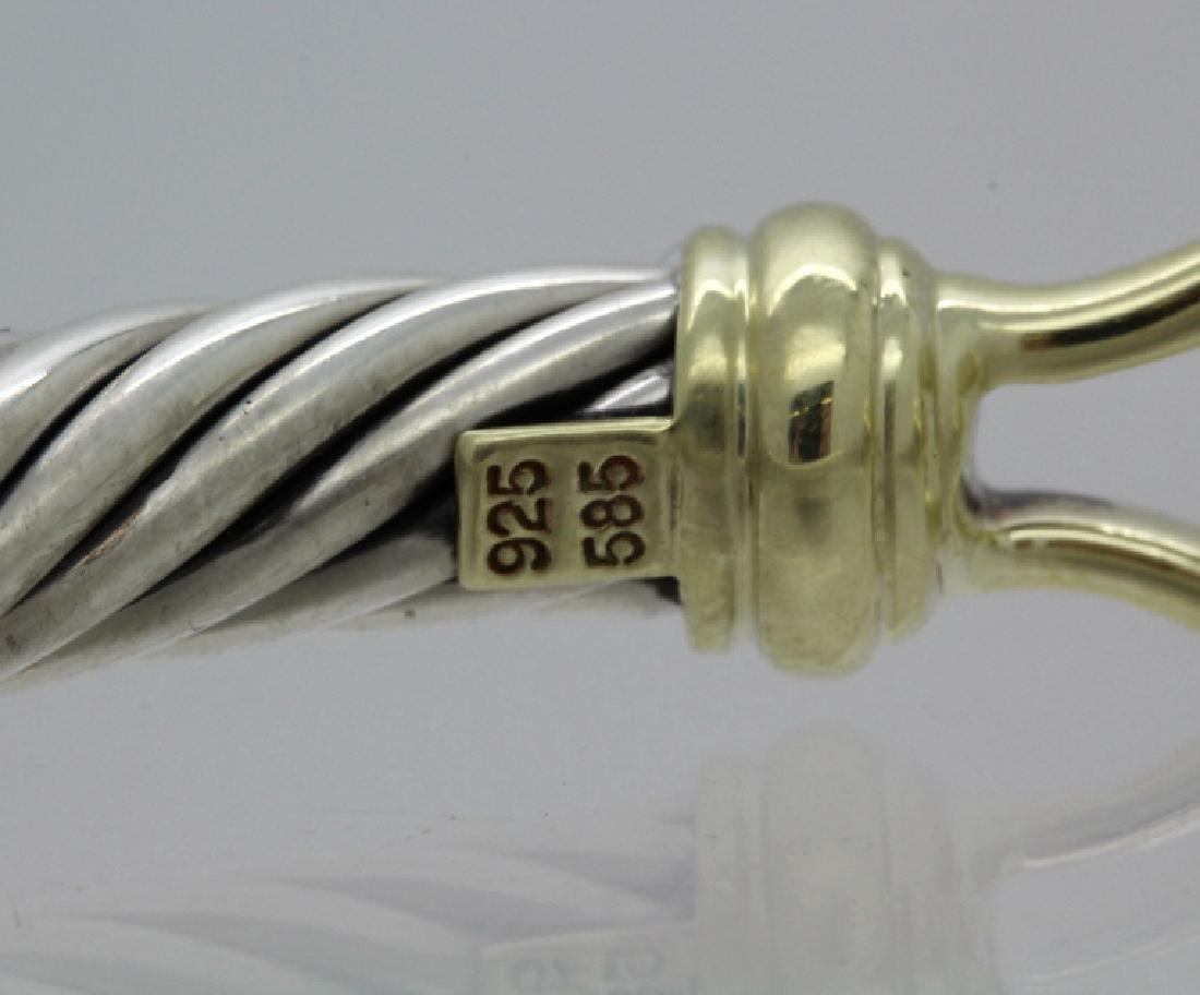 David Yurman 18k & Sterling Silver Cable Bracelet - 6