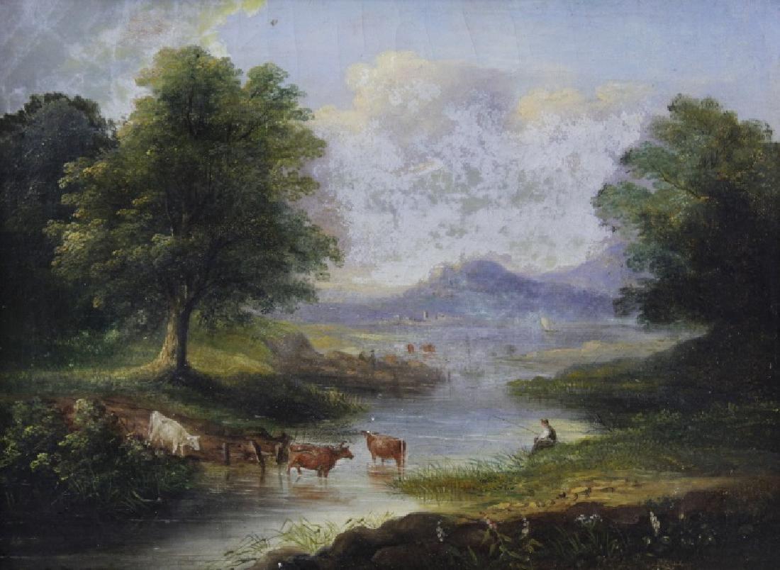 V. Dorland Pastoral Landscape Oil Painting FRAMED