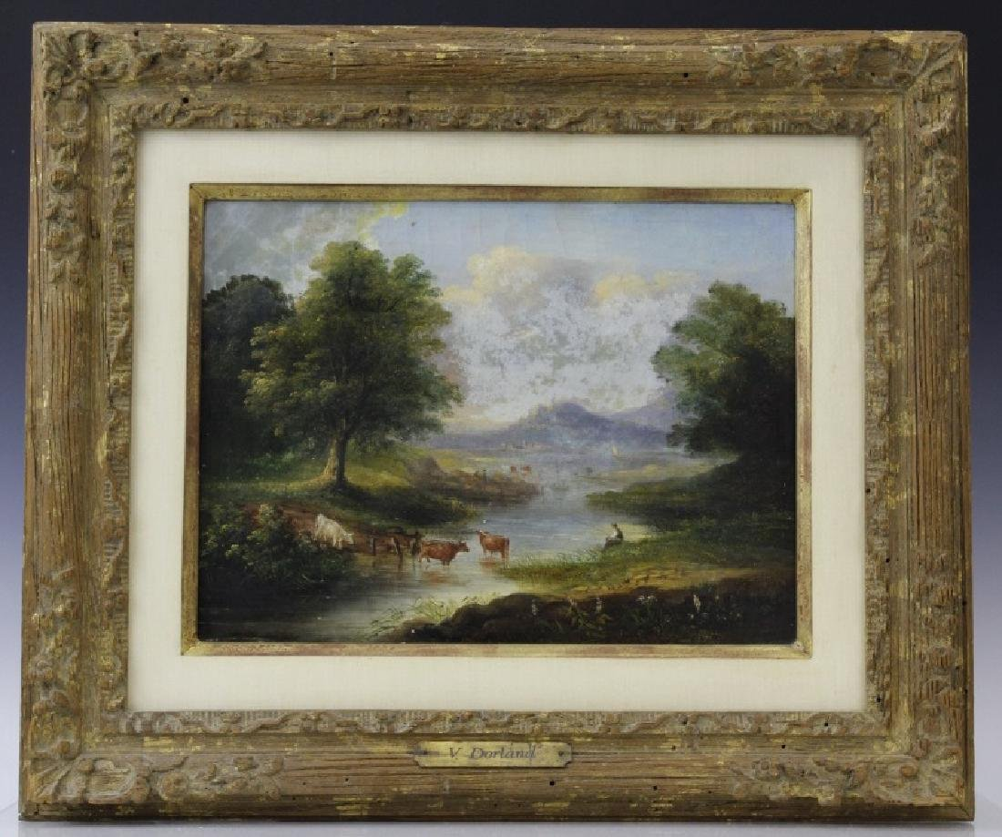 V. Dorland Pastoral Landscape Oil Painting FRAMED - 2