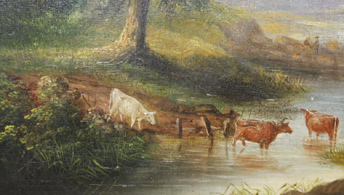 V. Dorland Pastoral Landscape Oil Painting FRAMED - 4