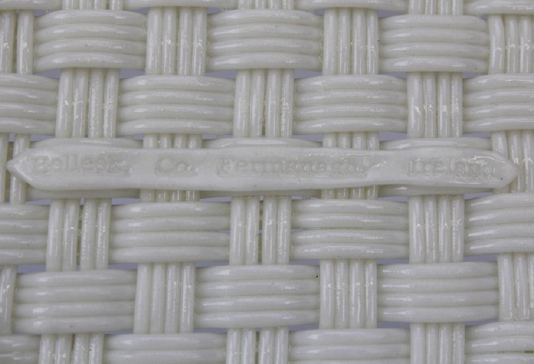 Irish Belleek Porcelain Woven Lattice Basket Tray Plate - 6